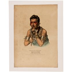 Young Ma-Has-Kah, Chief of the Ioways Lithograph