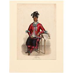 Tshusick, an Objiway Woman Lithograph