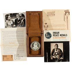 Mescalero Peace Medal and Book