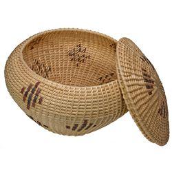 Mono Shouldered Basket with Lid