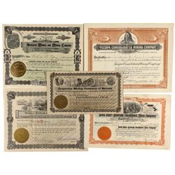 Death Valley Area Mining Stock Certificate Group