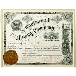 CO,Leadville-Lake County,Continental Mining Co. Certificate