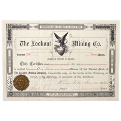Dakota South,-,Lookout Mining Co. Stock Certificate