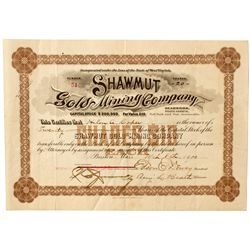 Dakota South,Deadwood-Lawrence County,Shawmut Gold and Mining Co. Stock Certificate