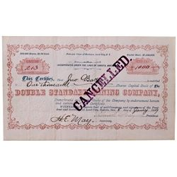 Dakota South,Lead City-Lawrence County,Double Standard Mining Co. Stock Certificate
