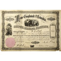 NV,-,New England and Nevada Stock Certificate