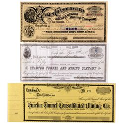 NV,Eureka-,Eureka Stock Certificates