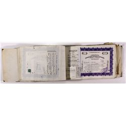 NV,Gold Hill-Storey County,Consolidated Chollar Gould & Savage Mining Co. Stock Certificates Book