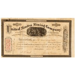 NV,Reese River-Lander County,United States Mining Co. Stock Certificate