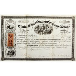 NV,Reese River Area-,Elmira Silver Bullion Company of Nevada Stock