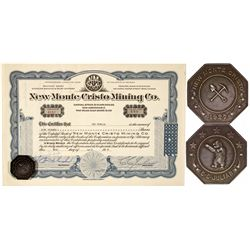 NV,Reno-Washoe County,New Monte Cristo Mining company Stock, with Medal