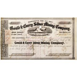 NV,Virginia City-Storey County,Gould & Curry Silver Mining Co. Certificate