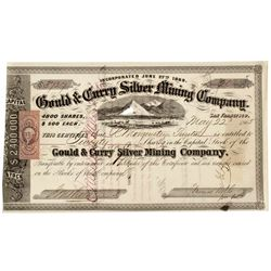 NV,Virginia City-,Gould and Curry Silver Mining Company Stock Certificate