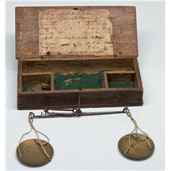 Early Gold Rush Scale with Box and Original Label