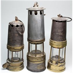 Miner's Flame Safety Lamp Trio