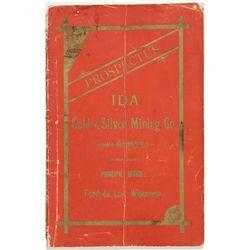"AZ,-,IDA Gold & Silver Mining Co. Prospectus Arizona ""Territorial"""