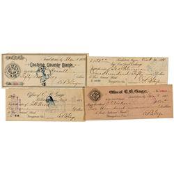 AZ,Tombstone-Cochise County,E.B. Gage Signed Checks