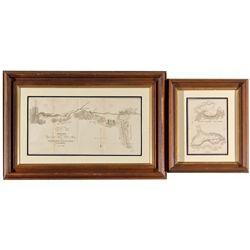 CA,-El Dorado County,Early American River Mines Framed Maps by Mason