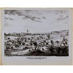 CA,Springfield-Tuolumne  County,California Gold Rush Illustrated Lettersheet