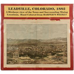 CO,Leadville-Lake County,Leadville Birds Eye Lithograph