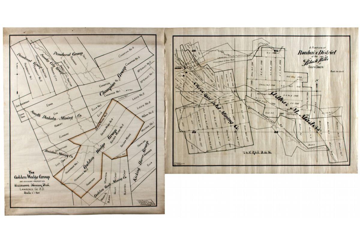 Dakota South,Deadwood-Lawrence County,Black Hills Mining Maps ... on