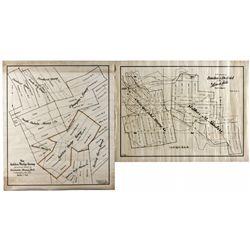 Dakota South,Deadwood-Lawrence County,Black Hills Mining Maps Pair