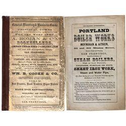 ID,-,3- Exceptionally Rare 1865 Idaho, Oregon Directory