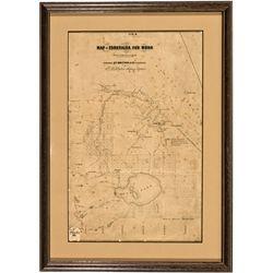 NV,Aurora-Esmeralda County,Aurora Framed Map