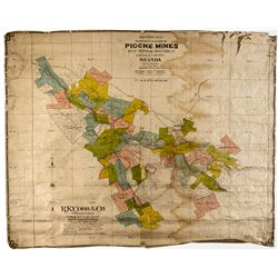 NV,Pioche-Lincoln County,Pioche, Ely Mining District Map