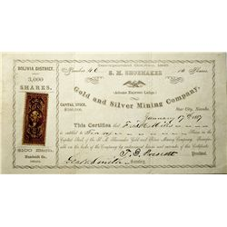 NV,Star City-Pershing County,Bolivia District Stock Certificate