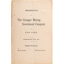 UT,-,Granger Mining Investment Co. Prospectus