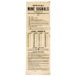UT,Salt Lake City-,Mine SignalsEnamelled Metal Sign
