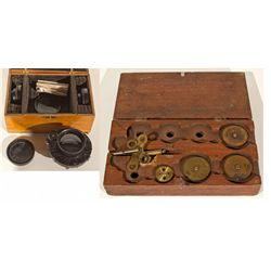 Wooden Case of Camera Lenses