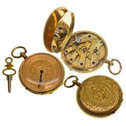 ,UK - England-,36mm Early English Pocket Watch with Key