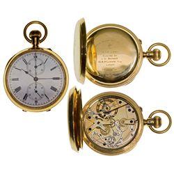 ,UK - London, England-,Swiss Made English Chronograph Pocket Watch