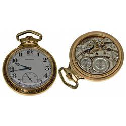 IL,Chicago-,Burlington Watch Co. Bulldog  21J Railroad Pocket Watch