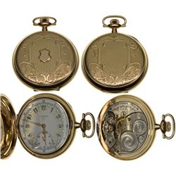 IL,Elgin-,14K Elgin 12 Size Fancy Multi-colored Dial 15J Pocket Watch