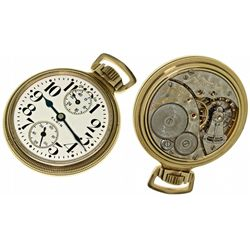 """IL,Elgin-,16 Size Elgin 21J """"Father Time"""" with Wind Indicator"""