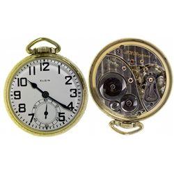IL,Elgin-,Elgin B.W. Raymond 21 Jewel, 16 Size Open Faced Watch, 5 Positions