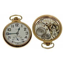 IL,Chicago-,Elgin 16 Size, 21 Jewel B.W. Raymond Railroad Pocket Watch