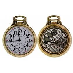 ,-,17 Jewel Hamilton Collector's Classic Edition Gold Railroad Watch