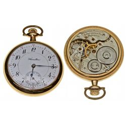 PA,Lancaster-,16 Size Hamilton 21J Railroad Pocket Watch