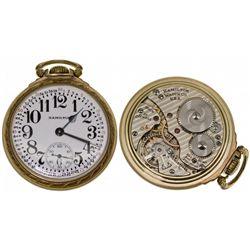 PA,Lancaster-,16 Size Hamilton Railroad 992 B Pocket Watch