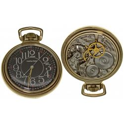 PA,Lancaster-,Hamilton 16 Size 22J Military Pocket Watch