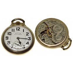 PA,Lancaster-,Hamilton Railway Special 21J Pocket Watch