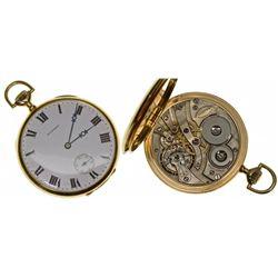 "MA,Boston-,E. Howard 18K Gold ""L"" Size (16) 23J Pocket Watch in Original Box"