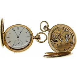 """MA,Boston-,E. Howard 18K Gold """"N"""" Size (18) Pocket Watch"""