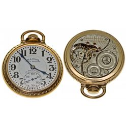 IL,Springfield-Sangamon County,Illinois Watch Co. Bunn Special 60 Hour 21J Pocket Watch