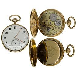 ,France, Paris-,18K Open Face L. Leroy Pocket Watch in Original Box