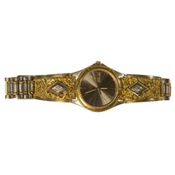 ,-,Wrist Watch with Gold Nuggets & Diamonds